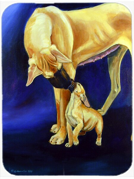 Great Dane with Puppy Glass Cutting Board by Caroline's Treasures
