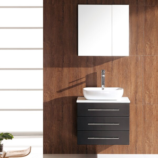 Stella 24 Single Modella Modern Bathroom Vanity Set with Mirror by Fresca