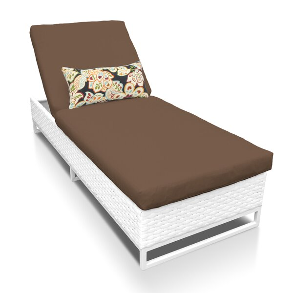 Miami Reclining Chaise Lounge with Cushion by TK Classics