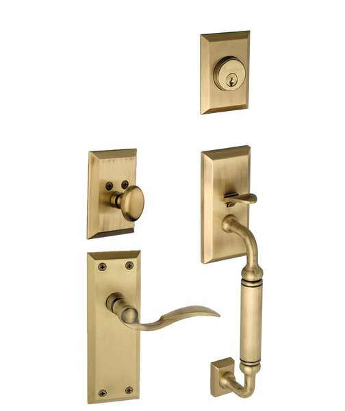Fifth Avenue S-Grip Left Hand Door Lever by Grandeur
