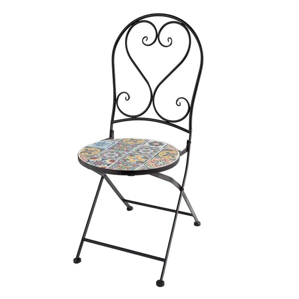 Mosaic Folding Patio Dining Chair by Wind & Weather