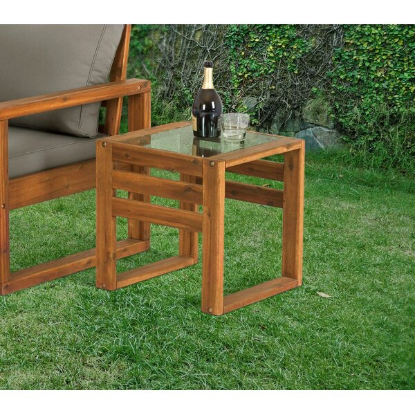Luzerne Wooden Side Table by Union Rustic