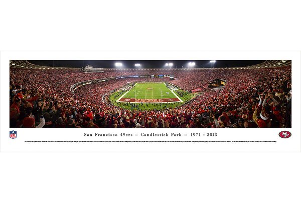NFL San Francisco 49Ers - End Zone Farewell by James Blakeway Photographic Print by Blakeway Worldwide Panoramas, Inc
