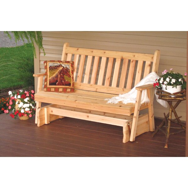 Gayden English Glider Bench by Millwood Pines