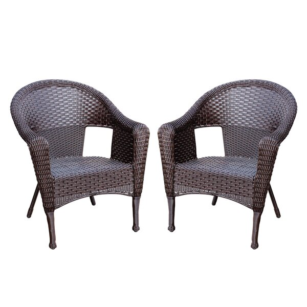 Kentwood Resin Wicker Patio Chair without Cushion (Set of 2) by Alcott Hill