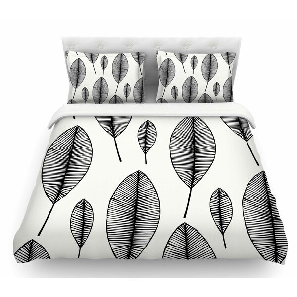 Leaves  Featherweight Duvet Cover by East Urban Home