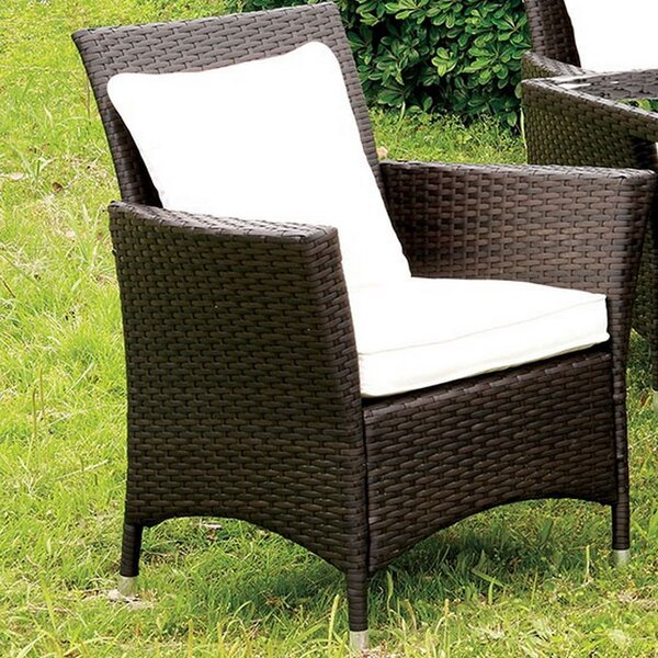 Galento Patio Dining Chair with Cushion (Set of 2) by Brayden Studio