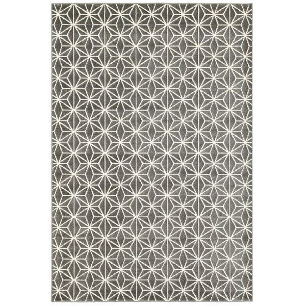 Dunnam Gray Area Rug by Wrought Studio
