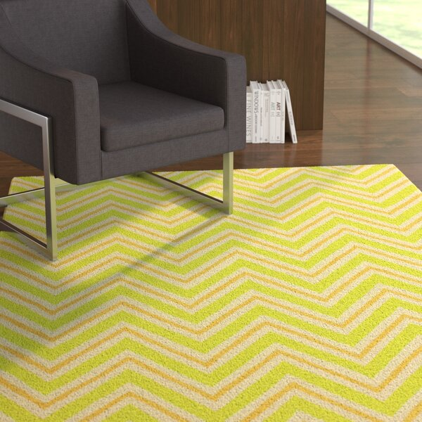 Evangelina Wool Light Green Area Rug by Latitude Run