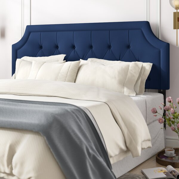 Charline Tufted King Upholstered Panel Headboard by Willa Arlo Interiors