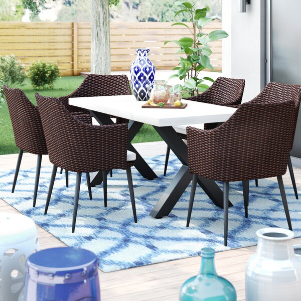 Callidora 7 Piece Dining Set with Cushions by Brayden Studio