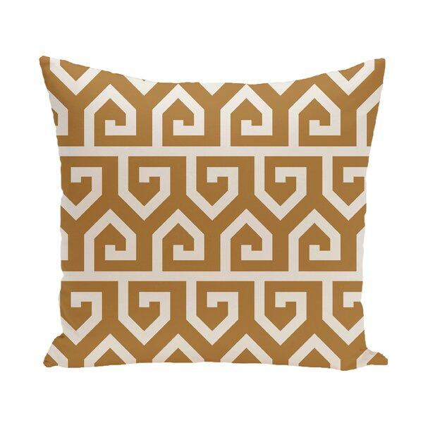 Nikanor Geometric Outdoor Throw Pillow by Mercury Row