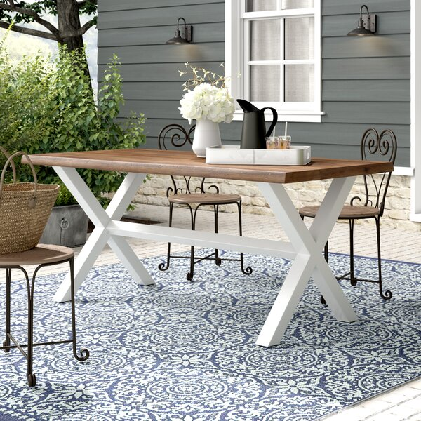 Larracey Solid Wood Dining Table by Gracie Oaks