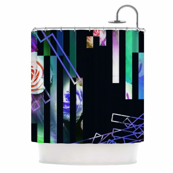 Dawid Roc Geometric Stripes Abstract Shower Curtain by East Urban Home
