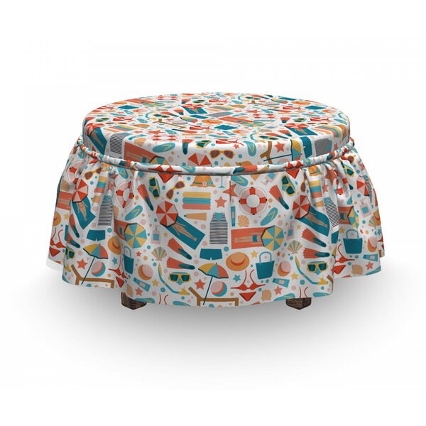 Snorkeling Masks Ottoman Slipcover (Set Of 2) By East Urban Home