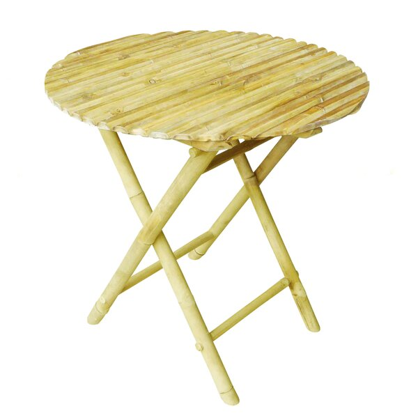 Larnakas Round Low Folding Side Table by Bay Isle Home