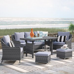 Arcellinna 6 Piece Deep Seating Group with Cushion