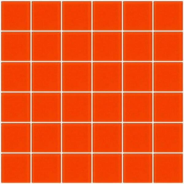 Bijou 22 2 x 2 Glass Mosaic Tile in Bright Orange by Susan Jablon