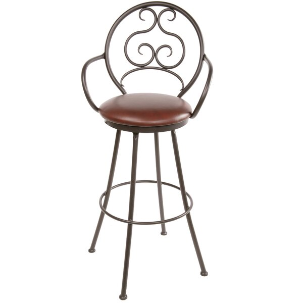 Chino 30 Swivel Bar Stool by Fleur De Lis Living