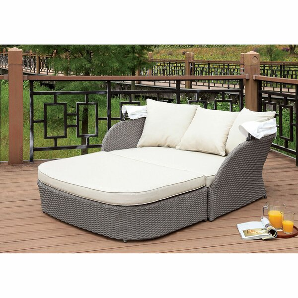 Zampa Patio Daybed with Cushions by Canora Grey