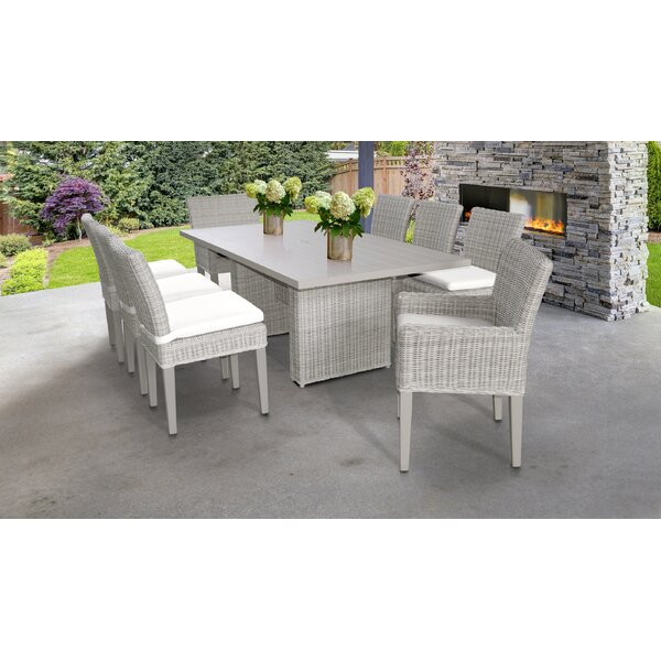 9 Piece Dining Set with Cushions by TK Classics