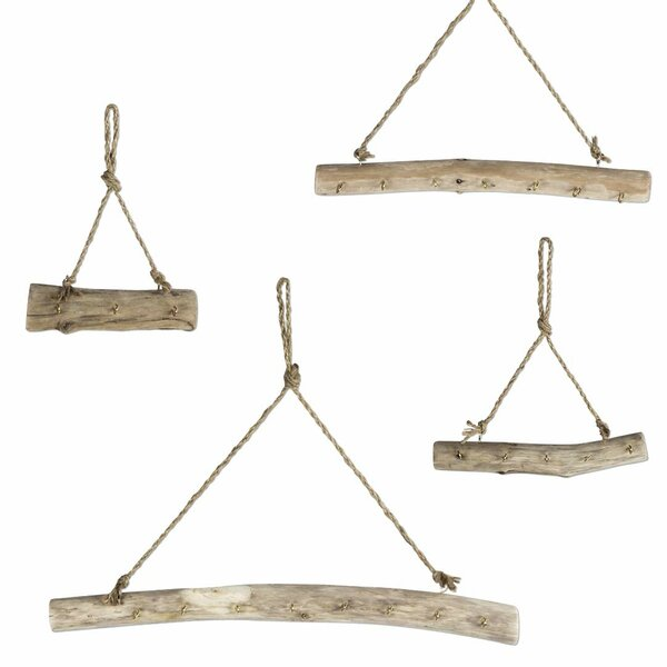 Hanging Driftwood Wall Mounted Jewelry Holder by Millwood Pines