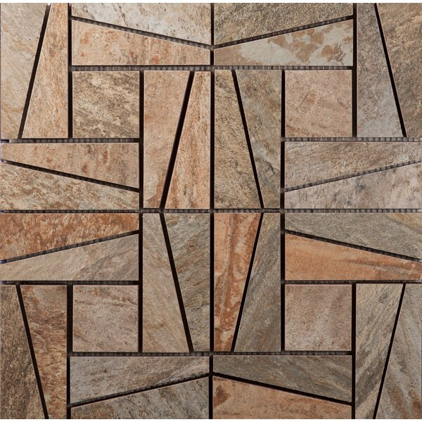 16 x 16 Ceramic Mosaic Tile in Supremo Winter by Interceramic