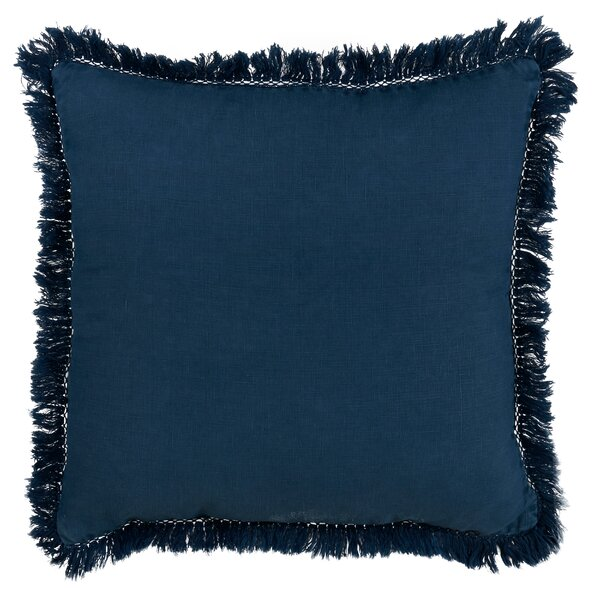 Zamudio Fringe Edges Linen Throw Pillow by Gracie Oaks