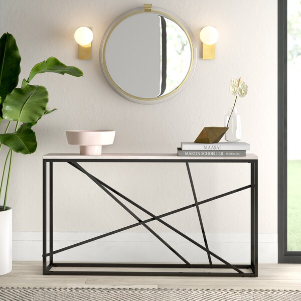 Kardos Skinny Console Table by Mercury Row