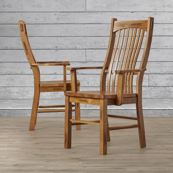 Corwin Solid Wood Dining Chair (Set of 2) by Loon Peak