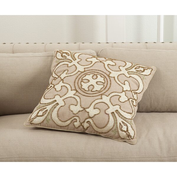 Martina Cotton Throw Pillow by Saro