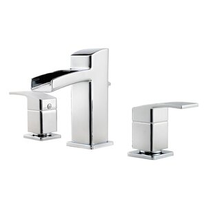 Kenzo Double Handle Widespread Waterfall Faucet