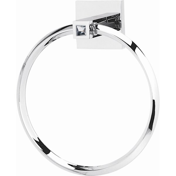 Swarovski Crystal Wall Mounted Towel Ring by Alno Inc