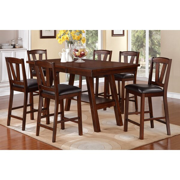 Youzi 7 Piece Counter Height Dining Set by A&J Homes Studio