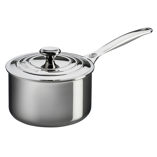 Stainless Steel Saucier Pan with Lid by Le Creuset