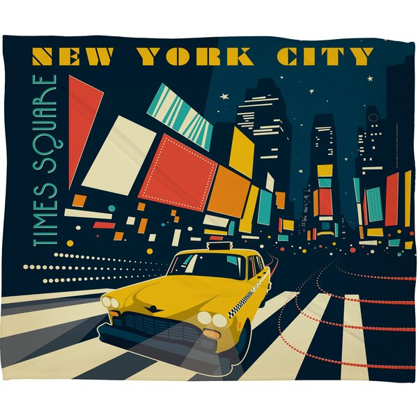 Anderson Design Group NYC Times Square Throw Blanket by Deny Designs