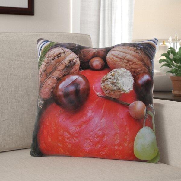 Westberg Autumn Basket Indoor/Outdoor Throw Pillow