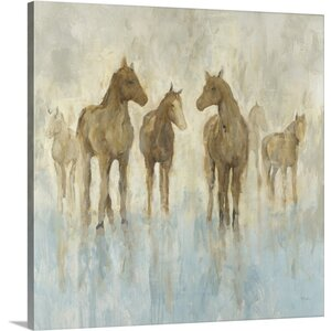 'Horses' by Randy Hibberd Painting Print on Wrapped Canvas by Great Big Canvas