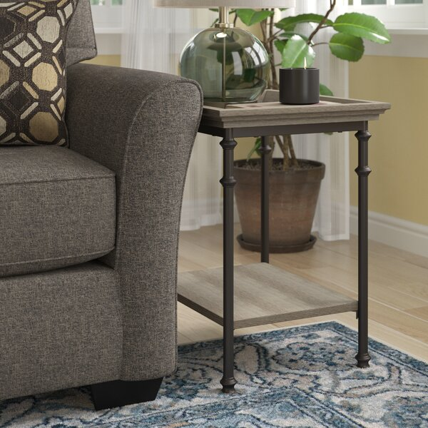 Oakside Tray Table by Three Posts