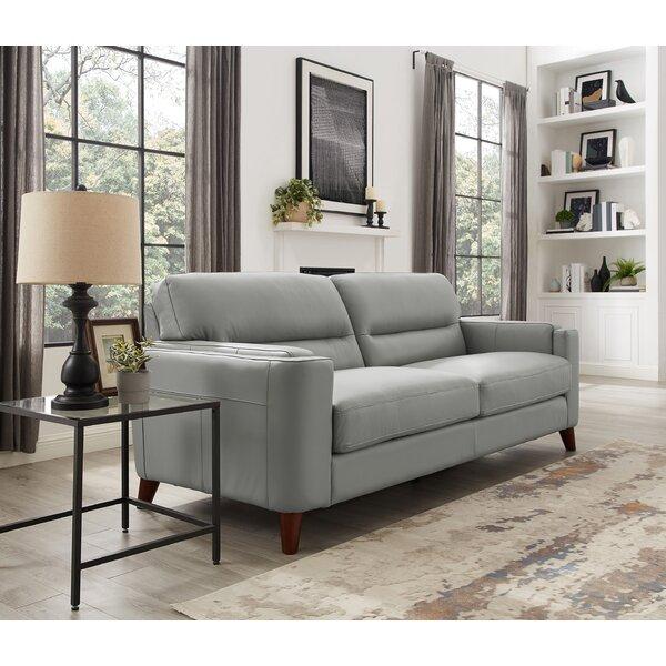 Maraca Leather Sofa By Wrought Studio