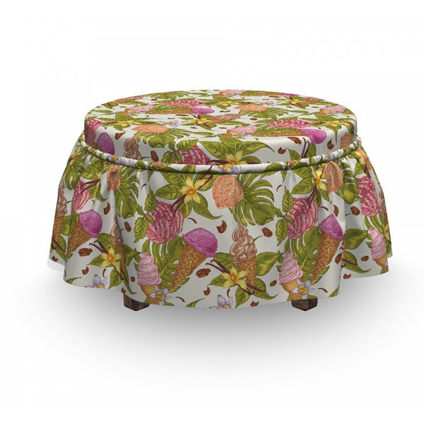 Tropic Botany And Scoops Ottoman Slipcover (Set Of 2) By East Urban Home