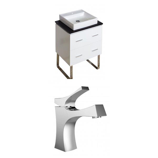 Xena Quartz 24 Single Bathroom Vanity Set by American ImaginationsXena Quartz 24 Single Bathroom Vanity Set by American Imaginations