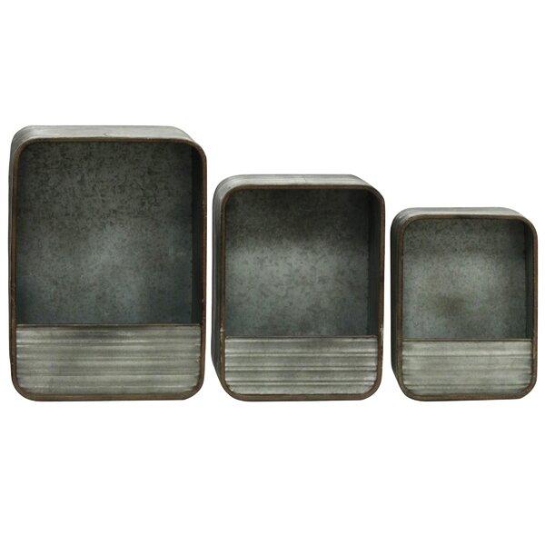 Rectangular Galvanized Accent Shelf (Set of 3) by StyleCraft Home