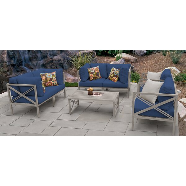 Carlisle 7 Piece Sofa Seating Group with Cushions by TK Classics