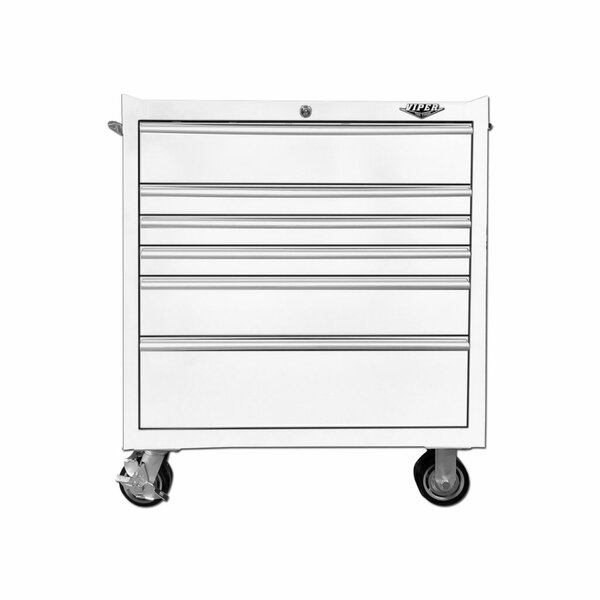 "33"" Wide 6 Drawer Bottom Rollaway Chest by Viper Tool Storage"