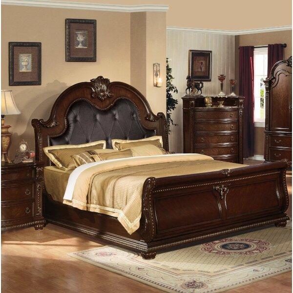Onorato Queen Upholstered Platform Sleight Bed by Astoria Grand Astoria Grand