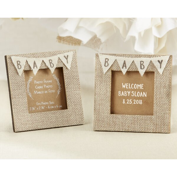 Rustic Baby Burlap Picture Frame (Set of 12) by The Holiday Aisle