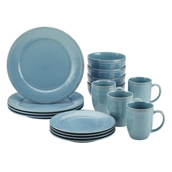 Cucina 16 Piece Dinnerware Set, Service for 4 by R