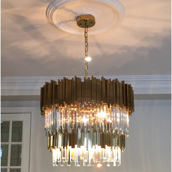 Eva 12-Light Unique / Statement Tiered Chandelier by Everly Quinn Everly Quinn