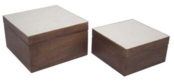 Wood Box Set (Set of 2) by Bay Isle Home